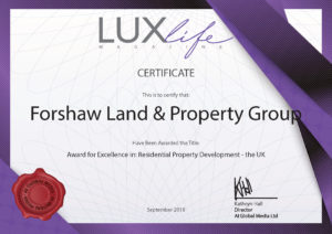 Forshaw Land Property Group Award