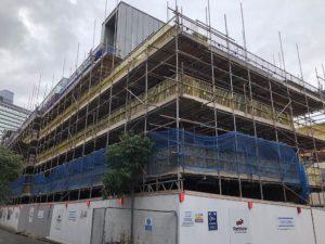 main scaffold