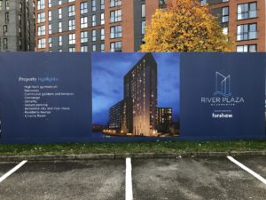 River Plaza Site Hoarding